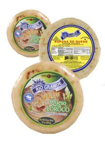 pupusas de queso con loroco